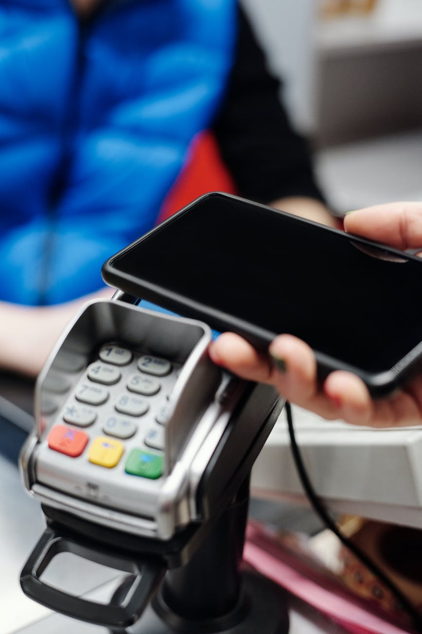 making a payment with a smartphone